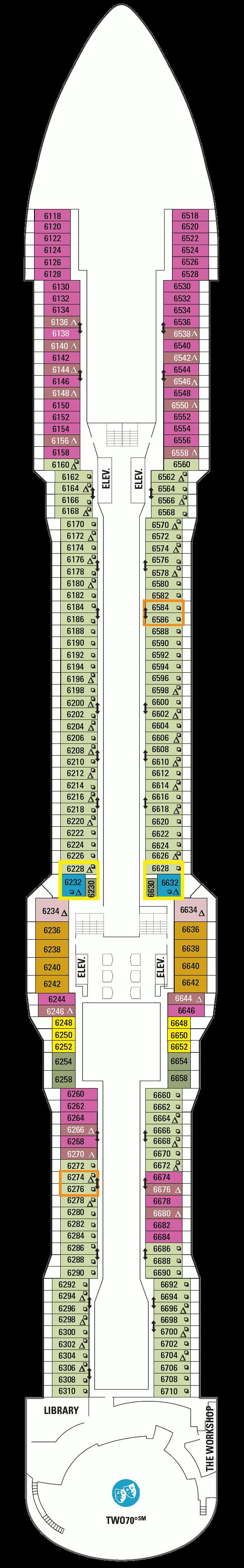Ovation of the Seas Deck 6