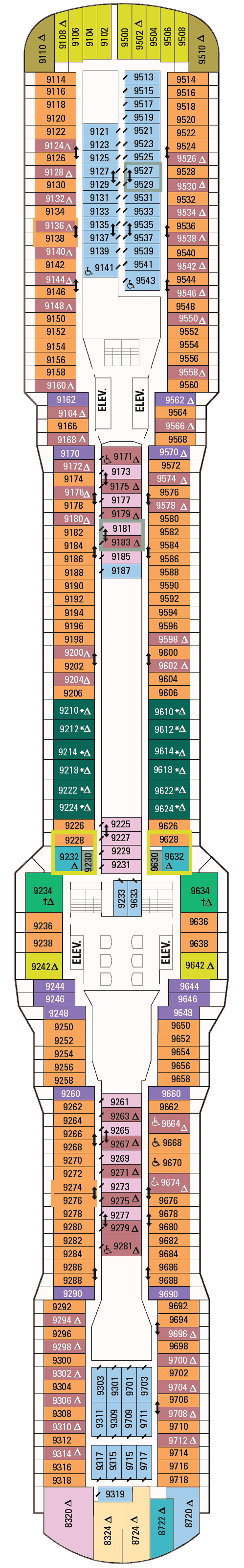 Ovation of the Seas Deck 9