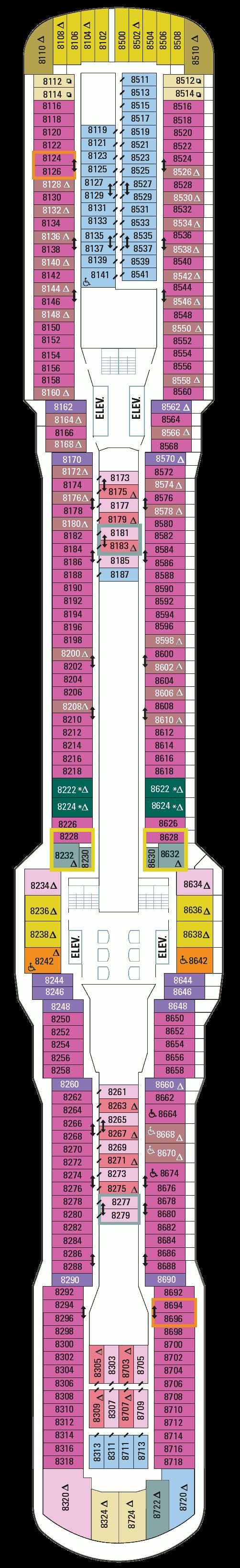 Ovation of the Seas Deck 8