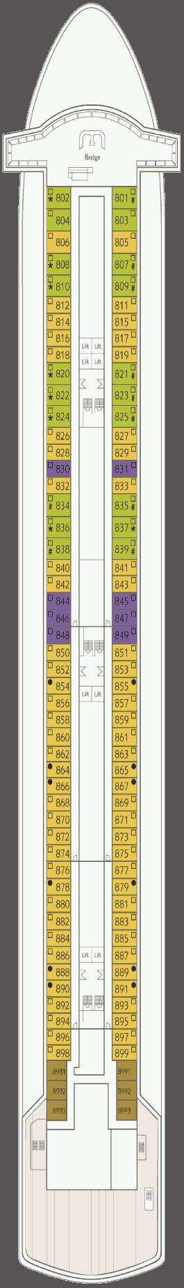 Thomson Majesty Deck 8