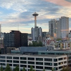 View from the Buffett on the 16th deck looking at the. It's of Seattle