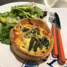 Quiche at Grand Dutch Cafe