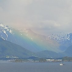Leaving Sitka, Amazing Rainbow