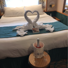We came back from an awesome beach day in costa maya to find this on our anniversary!