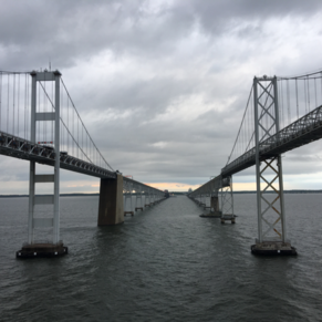 Under the Chesapeak Bay Bridge