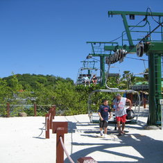 Getting off Flying Beach Chair