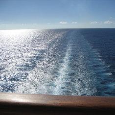 The always beautiful ship's wake