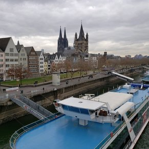 Cologne with the cathedral in the background