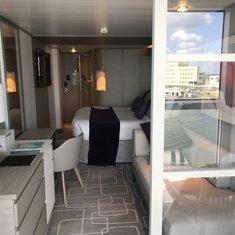 View of room from infinite veranda