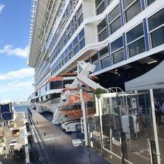 Embarking at deck 5