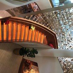 Staircase down to Cafe al Bacio