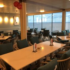 Seating in Oceanview Cafe