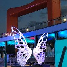 Butterfly Sculpture on Resort Deck