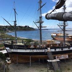 Beagle ship replica Museo Nao Victoria