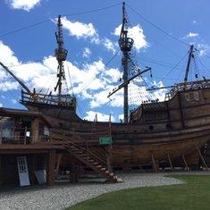 Magellan ship replica Museo Nao Victoria