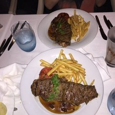 Steak in the main dining room