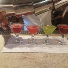 Martini tasting at Alchemy Bar.  Was excellent!