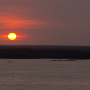 Sunset at PhuMy Port