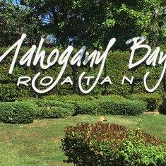 Mahogany Bay welcome sign