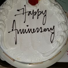 Anniversary cake. Thank you  NCL