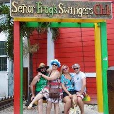 Sailing party at Senior Frogs, Nassau