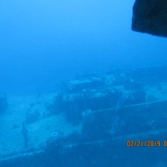 More of sunken ship from sub
