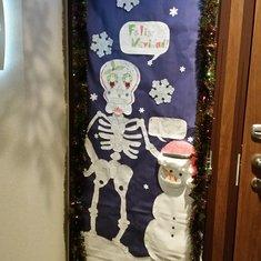 Door decorating.
